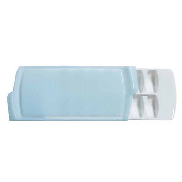 GG ICE CUBE TRAY, WHITE &BLUE
