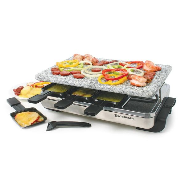 Swissmar 8 Person Stelvio Raclette Party Grill With Granite Stone