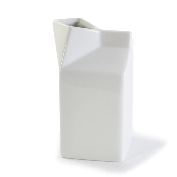 Danesco BIA Ceramic Milk Carton Pitcher