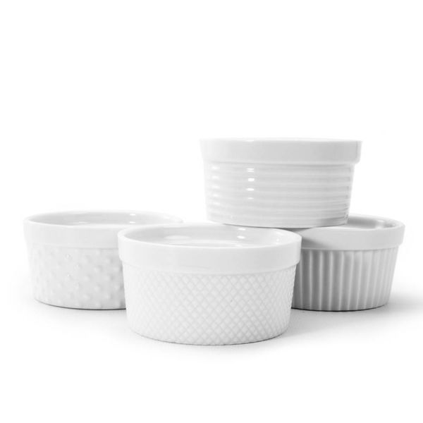 S-4 RAMEKIN TEXTURED,5oz,WHITE