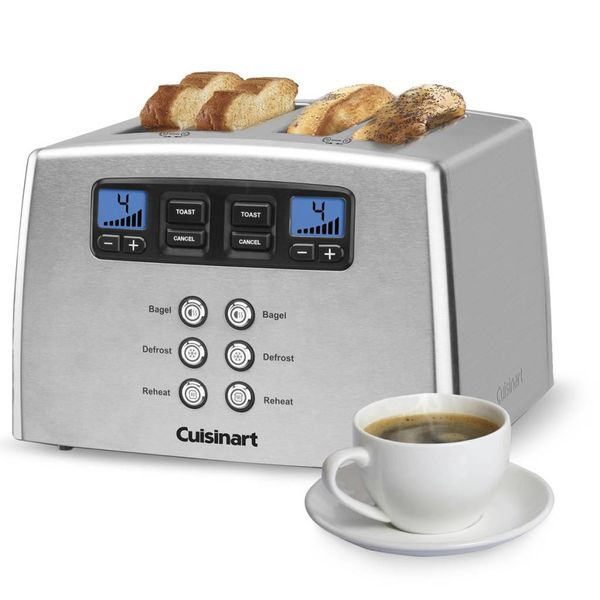 Cuisinart Countdown Lever-Less 4-Slice Toaster