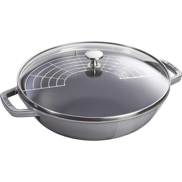 Staub Wok 4,4 L Grey