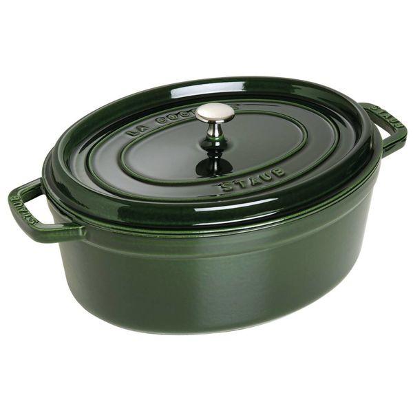Cocotte Ovale Staub 5.5 L / Fonte / basilic