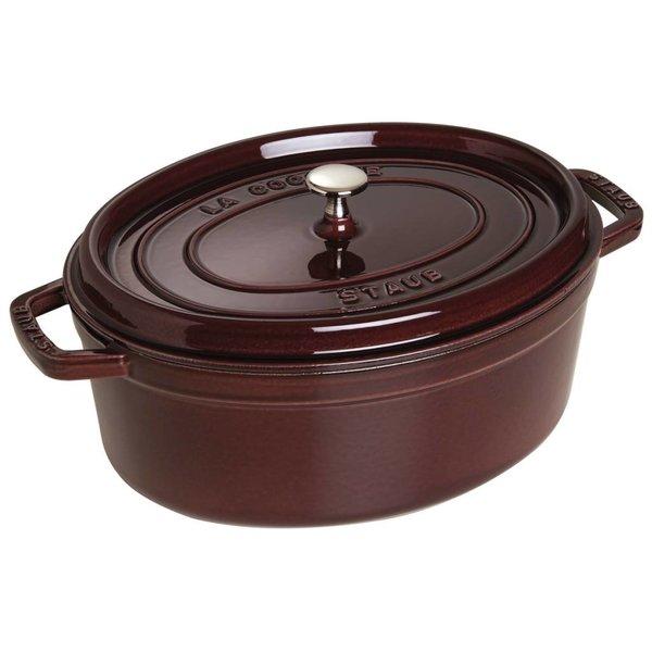 Cocotte Ovale Staub 5.5 L / Fonte / Aubergine