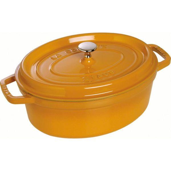 Cocotte Ovale Staub 5.5 L / Fonte / Moutarde