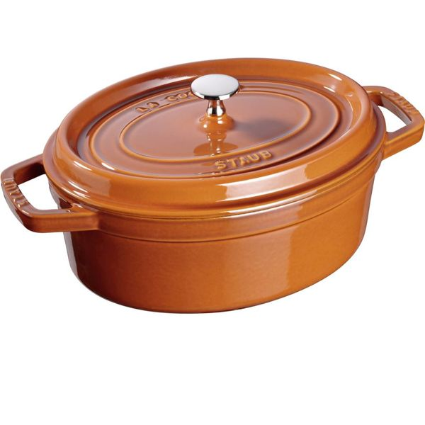 Cocotte Ovale Staub 5.5 L / Fonte / Cannelle