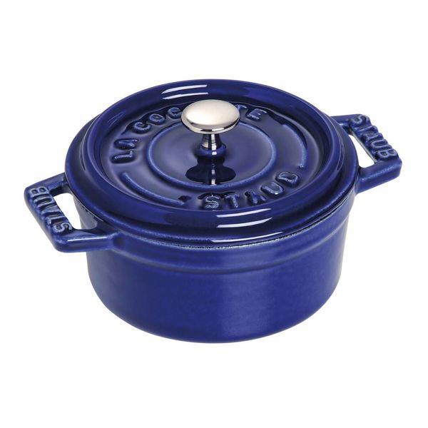 Cocotte ronde Staub 230 ml / Fonte / Bleu foncé