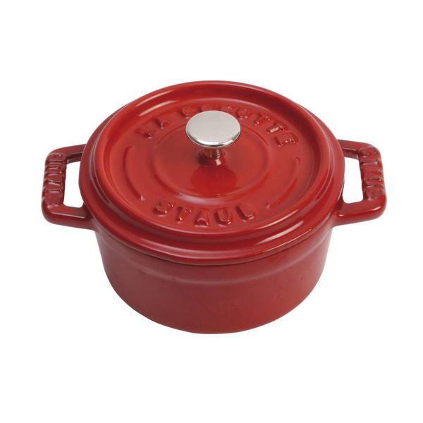 Cocotte ronde Staub 230 ml / Fonte / Cerise