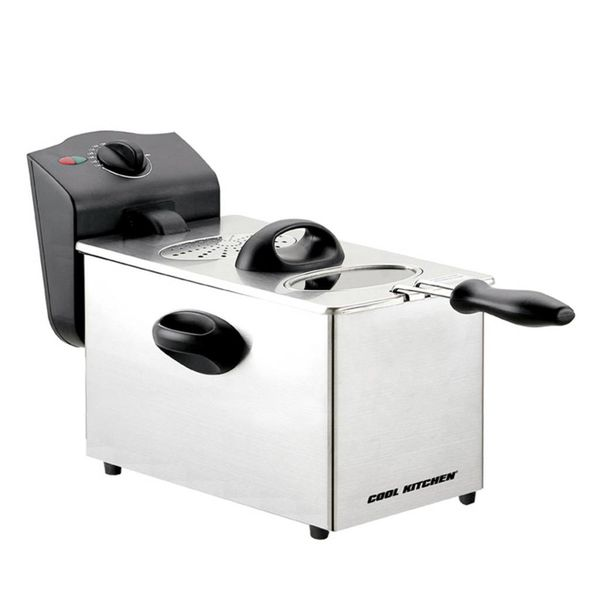 Friteuse en acier inoxydable de Cool Kitchen Pro