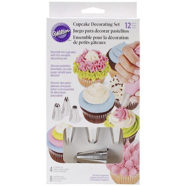 Ensemble de décoration de cupcakes 12 morceaux de Wilton