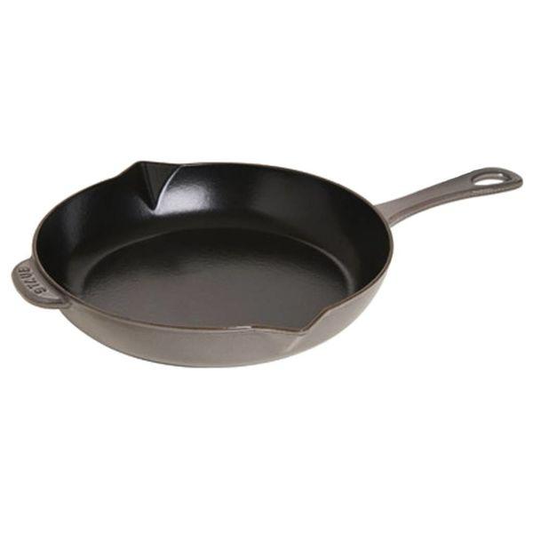 Poêle à frire Staub 30 cm / Fonte / Gris