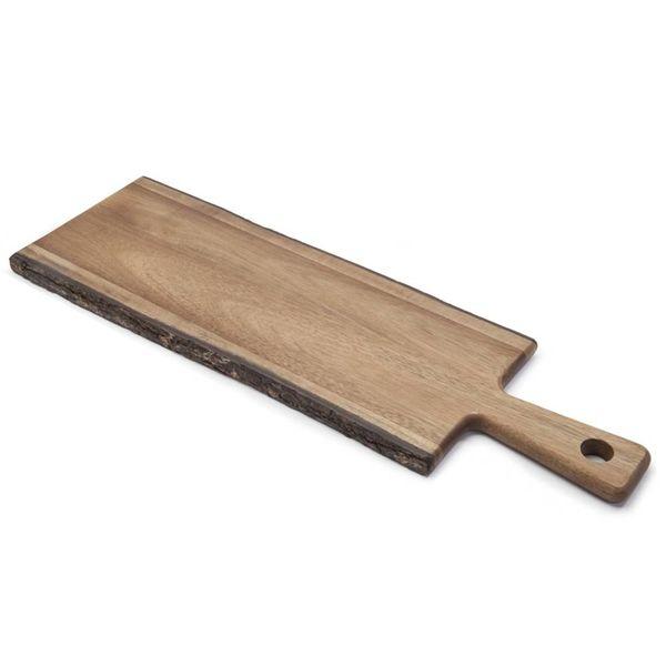 Natural Living Acacia Natural Edge Serving Board with Handle