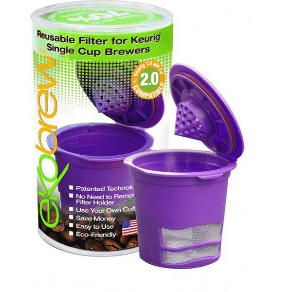 Dosette réutilisable mauve compatible K-Cup de Ekobrew