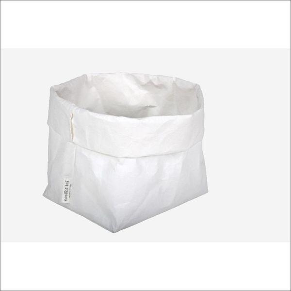 Sac de cellulose de Essential 21 cm x 14 cm x 30 cm / Blanc
