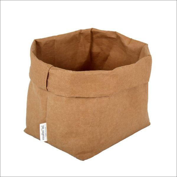 Sac de cellulose de Essential 21 cm x 14 cm x 30 cm / Beige