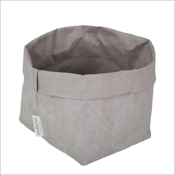 Sac de cellulose de Essential 14 cm x 14 cm x 23 cm / Gris