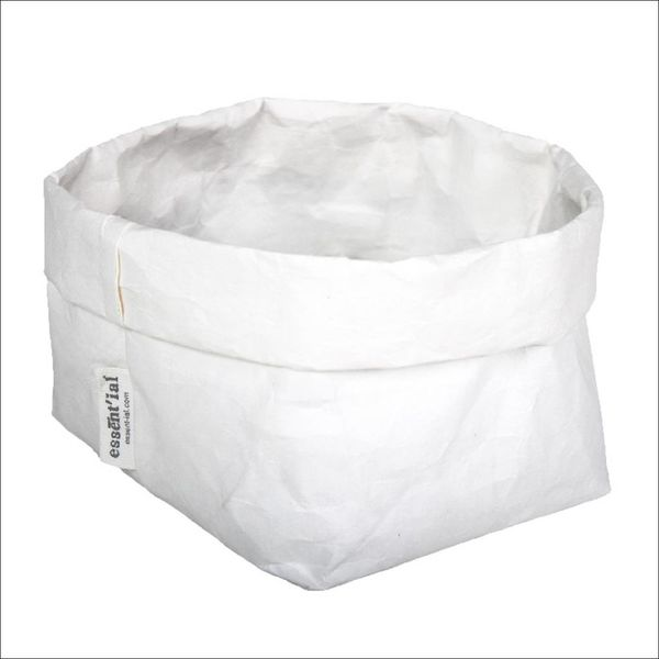 Sac de cellulose de Essential 14 cm x 14 cm x 23 cm / Blanc