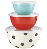 Kate Spade Kate Spade Deco Dot Serve and Store Bowls