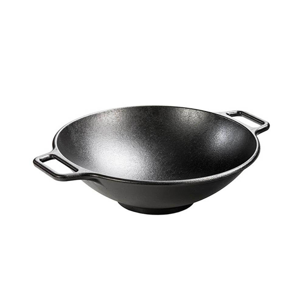wok en fonte de lodge ares cuisine. Black Bedroom Furniture Sets. Home Design Ideas