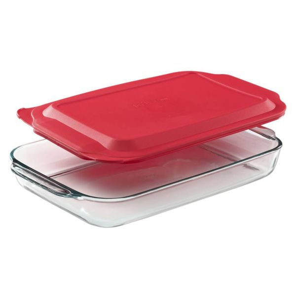 Pyrex 4.5-qt Oblong Baking Dish w/ Red Lid