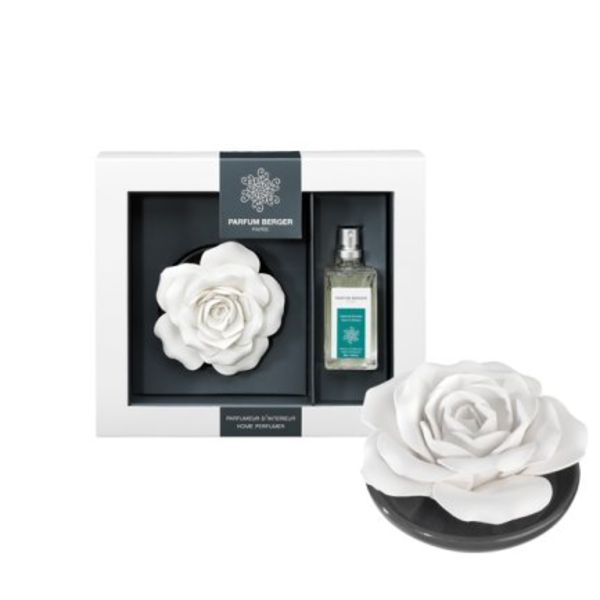 Rose sur plateau Parfum Berger Orange de Cannelle