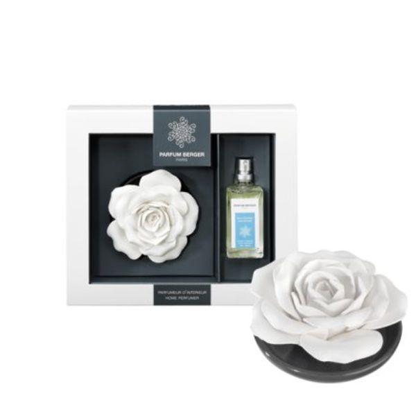 Rose sur plateau Parfum Berger Savon d'autrefois
