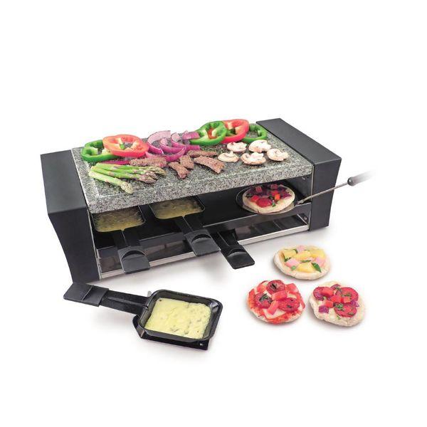 Raclette à pizza pour 8 personnes avec surface de cuisson en granite Locarno de Swissmar
