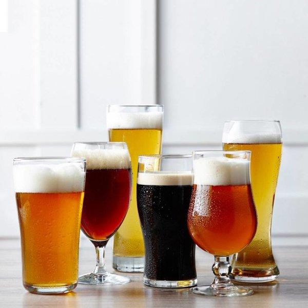Ensemble de 6 verres à bière assortis craft brew
