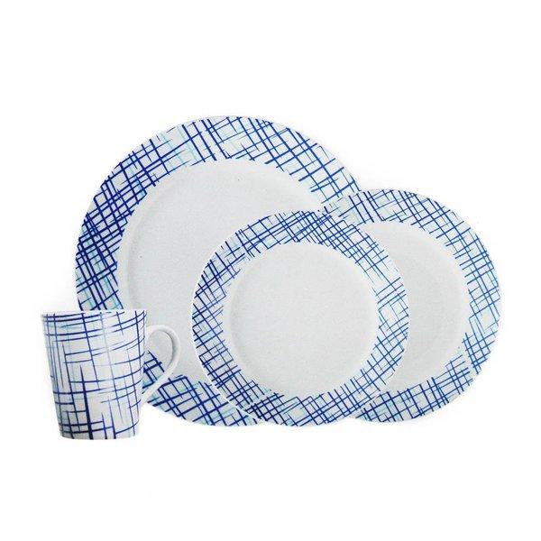 """Service à vaisselle """"Bistro Blue"""" de H2K"""