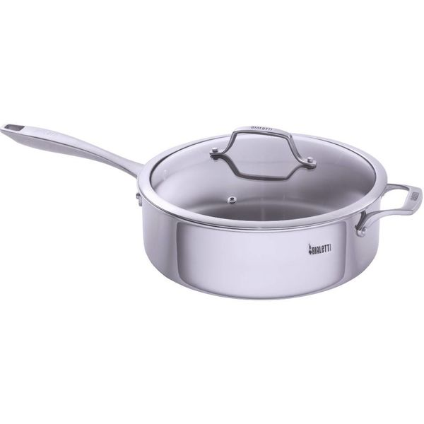 Bialetti Tri-Ply 5.5L Covered Deep Sauté Pan