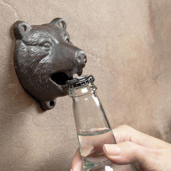 """Ouvre-bouteille de bière mural """"Ours Grognant"""" de Abbott"""