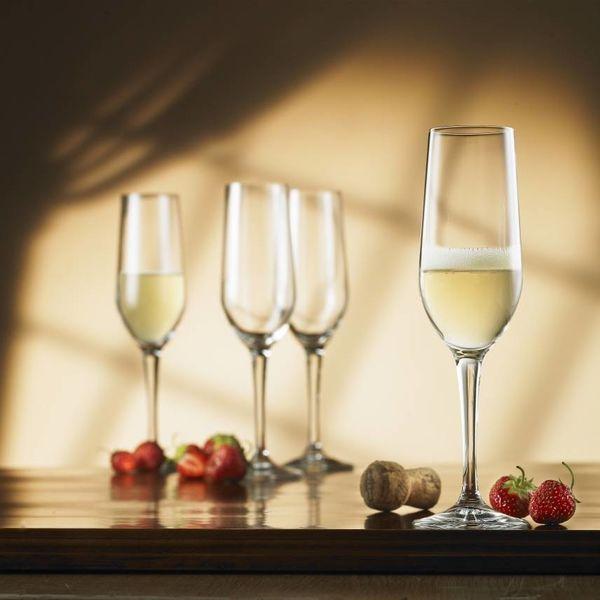 Bormioli Set of 4 Nadia Champagne Flutes