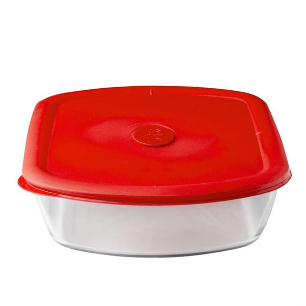 Pyrex Pro 3-qt Rectangle Storage Dish w/ Red Vented Lid