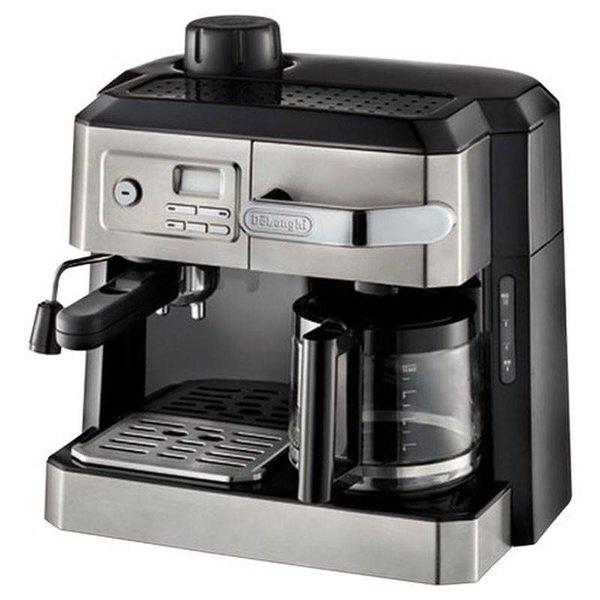 Machine à café combinée espresso vapeur et café filtre 10 tasses De'Longhi