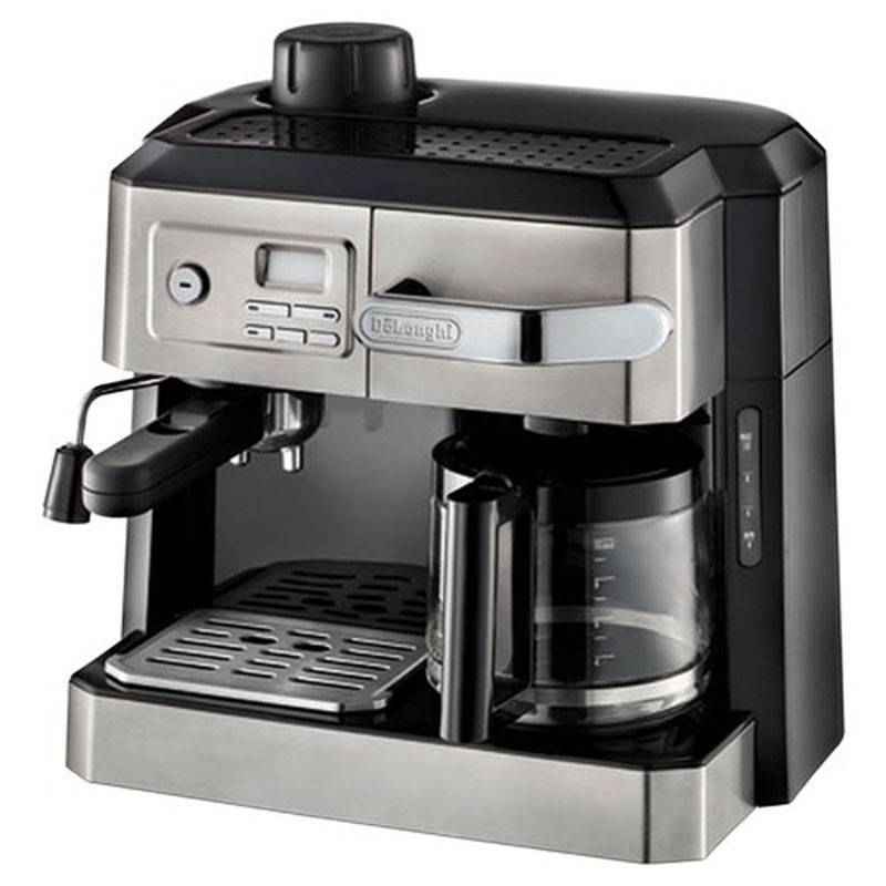 delonghi machine caf combin e espresso vapeur et caf filtre 10 tasses de longhi avec. Black Bedroom Furniture Sets. Home Design Ideas