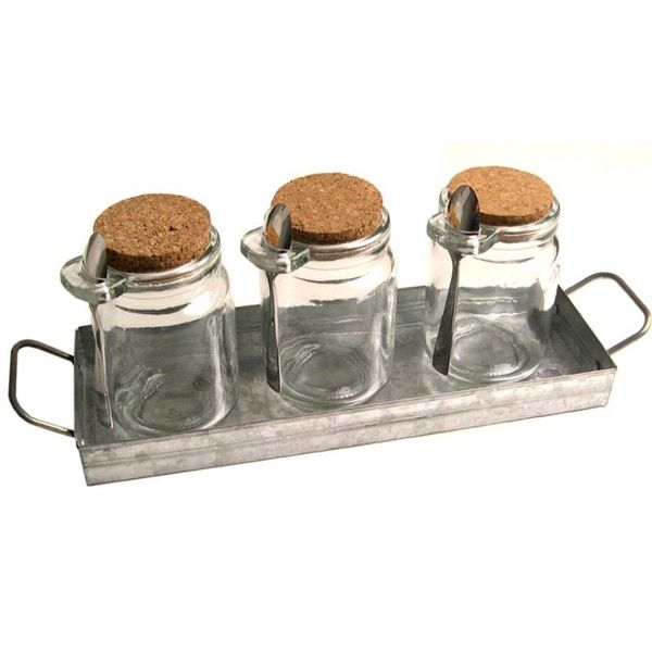 OASIS CONDIMENT SET WITH TRAY