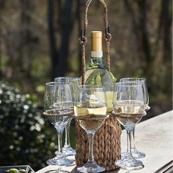 GARDEN TERRACE 7pc Wine Caddy Set
