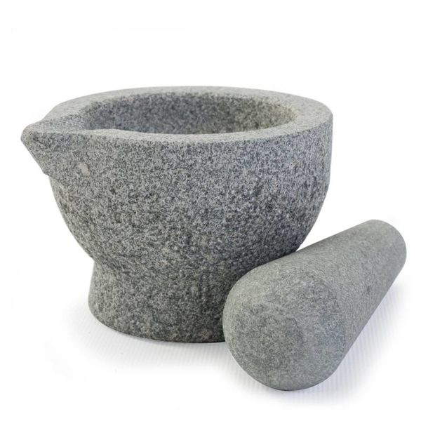 "MINI MORTAR&PESTLE,3.5x2.5"",GR"