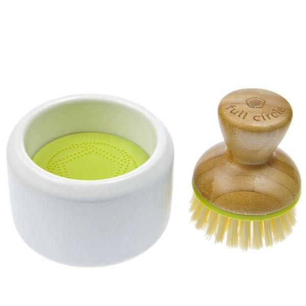Full Circle Brosse à vaisselle & savonnier BUBBLE UP