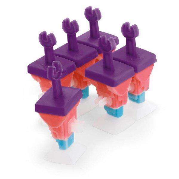 """Moules à glaces à bâtonnet """"Robot"""" emboîtables Cuisipro (ens. de 6)"""