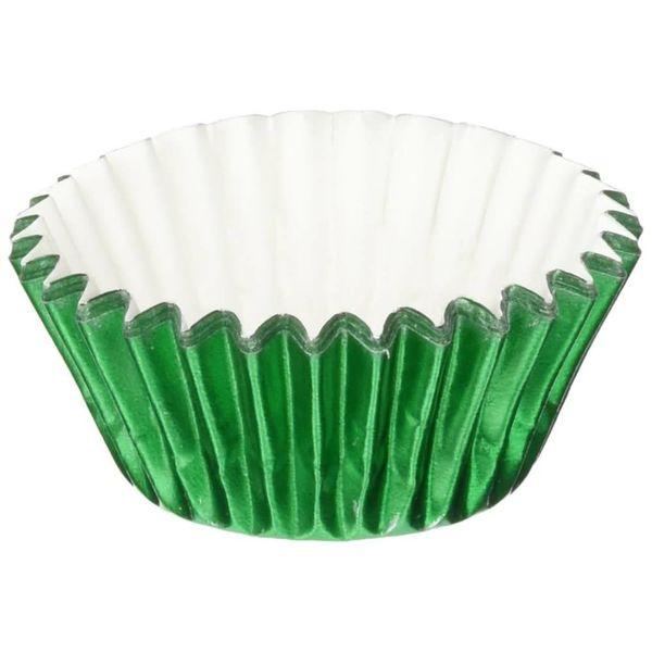 Fox Run Green Foil mini Baking Cup