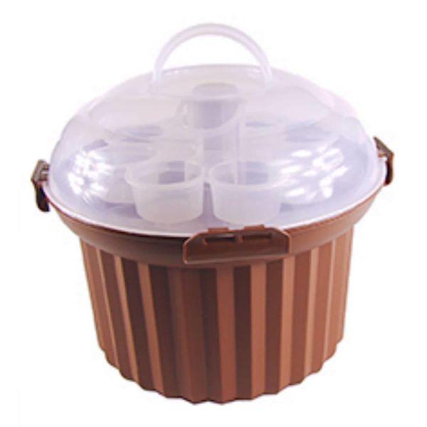 Présentoire brun pour 24 muffins de Fox Run