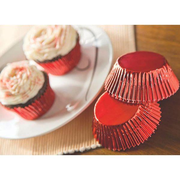 Fox Run Red Foil Standard Baking Cups (32)