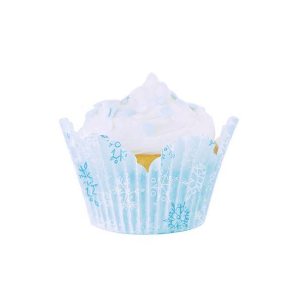 Fox Run Snowy Day Tulip Bake Cups