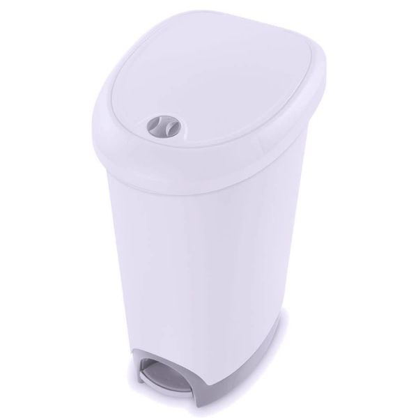 Poubelle 46L blanc de Sterilite