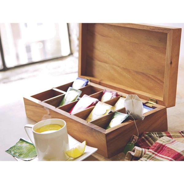 Ironwood Acacia Wood Tea Box