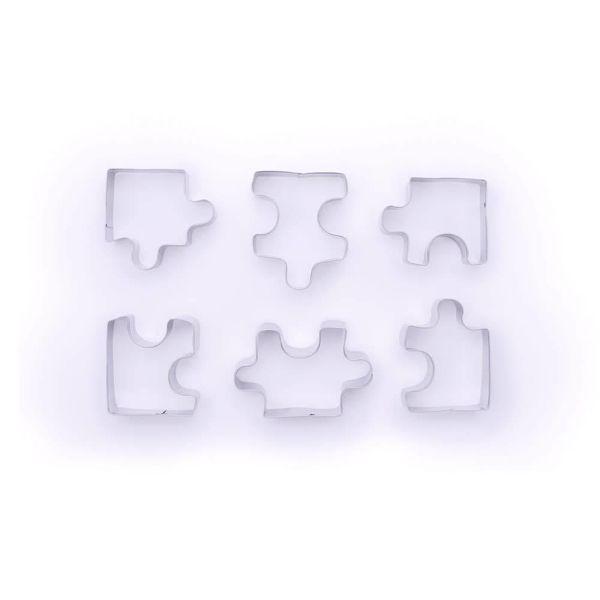 Fox Run Puzzle Piece Cookie Cutter Set