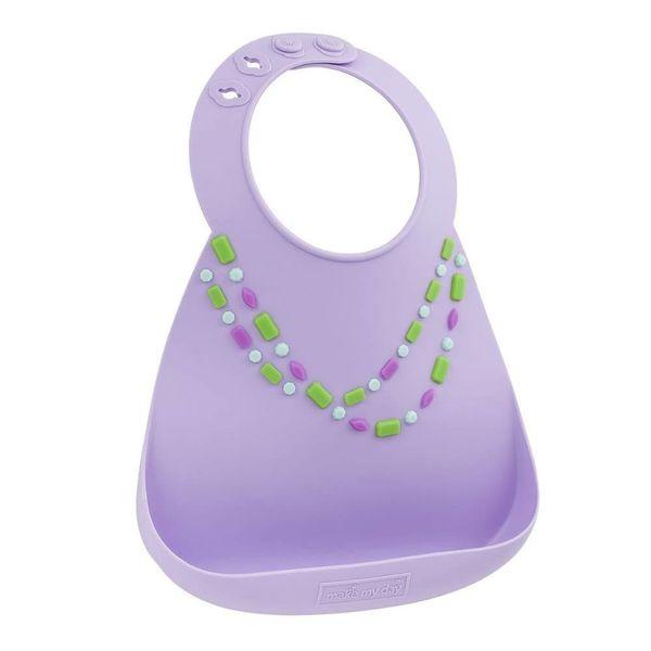Make My Day Baby Bib - Lilac W/ Jewels