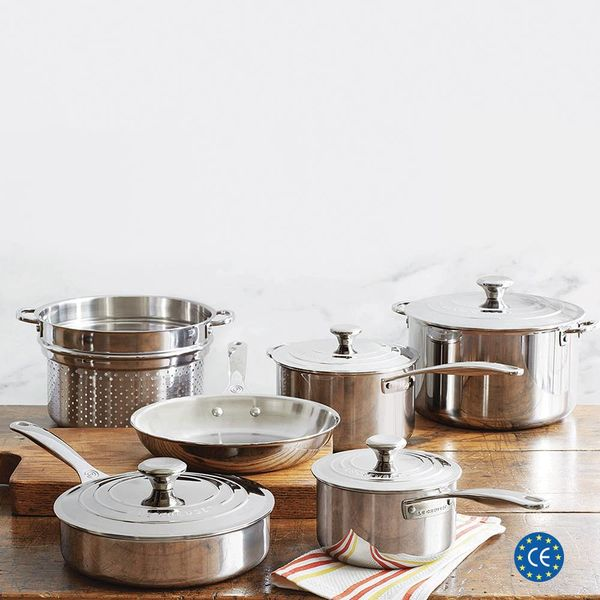 Le Creuset 10 Piece Stainless Steel Cookware Set