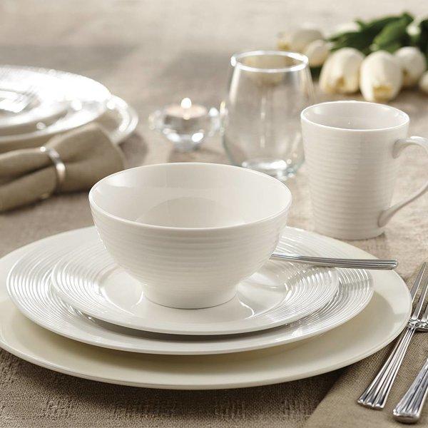 """Ensemble à dîner 16mcx """"Linea"""" en porcelaine de Mann"""